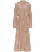 Bottega Veneta | Embellished silk shirt dress | Clouty