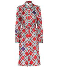 Bottega Veneta | Printed silk shirt dress | Clouty