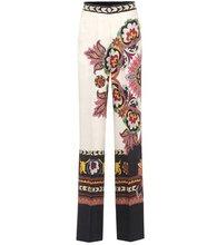 Etro | Jacquard silk-blend trousers | Clouty