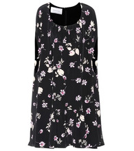 VALENTINO | Floral-printed silk dress | Clouty