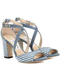 Jimmy Choo | Carrie 85 raffia sandals | Clouty