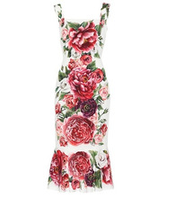 Dolce & Gabbana | Floral-printed silk dress | Clouty