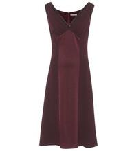 Bottega Veneta | Sleeveless satin and crepe dress | Clouty