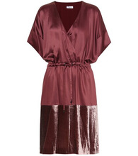 Brunello Cucinelli | Satin and velvet dress | Clouty
