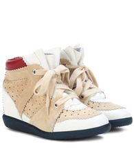 Isabel Marant | Betty leather and suede sneakers | Clouty