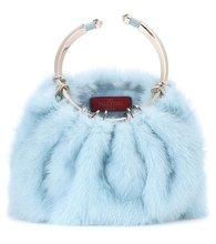 Valentino Garavani | Valentino Garavani Bebop Loop mink fur clutch | Clouty