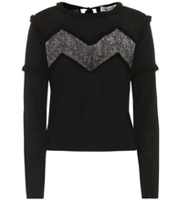 VALENTINO | Lace-trimmed wool sweater | Clouty