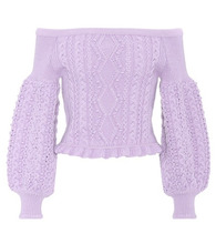 VALENTINO | Cropped off-the-shoulder wool sweater | Clouty