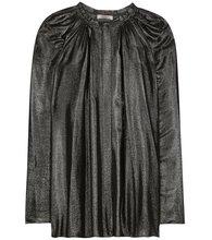 NINA RICCI | Coated pleated blouse | Clouty
