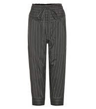 Isabel Marant | Shantel striped silk-blend cropped trousers | Clouty