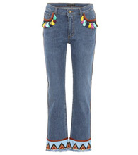 Etro | Embroidered cropped jeans | Clouty