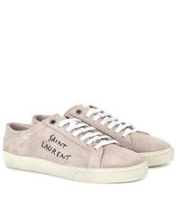SAINT LAURENT | Court Classic SL/06 suede sneakers | Clouty
