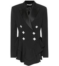 Alessandra Rich | Embellished wool tuxedo jacket | Clouty