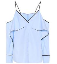Mugler | Cold-shoulder cotton shirt | Clouty