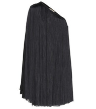 SAINT LAURENT | Fringed one-shoulder minidress | Clouty