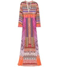 Etro | Printed silk crepe de chine maxi dress | Clouty