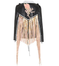 GUCCI | Fringed leather jacket | Clouty