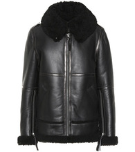 Acne Studios   Shearling and leather jacket   Clouty