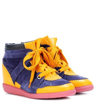 Isabel Marant | Betty suede wedge heel trainers | Clouty