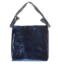 The Row | Small Wander velvet and snakeskin shoulder bag | Clouty