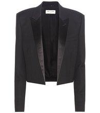 SAINT LAURENT | Cropped wool crepe blazer | Clouty