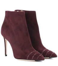 Jimmy Choo   Embellished suede ankle boots   Clouty