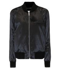 SAINT LAURENT   Velvet bomber jacket   Clouty