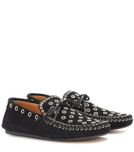 Isabel Marant | Foccia embellished suede loafers | Clouty