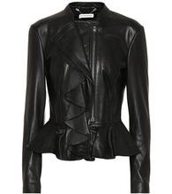 Altuzarra | Ruffled leather jacket | Clouty