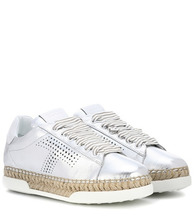 Tod's | Metallic leather sneakers | Clouty