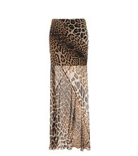 SAINT LAURENT   Printed silk maxi skirt   Clouty