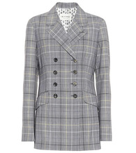 Etro | Checked wool and mohair blazer | Clouty