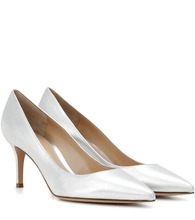 Gianvito Rossi | Exclusive to Mytheresa – Gianvito 70 metallic leather pumps | Clouty