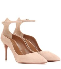 Aquazzura | Dolce Vita 85 suede pumps | Clouty