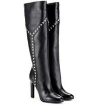 SAINT LAURENT | Grace 105 embellished leather boots | Clouty