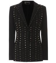 Versace | Embellished crepe blazer | Clouty