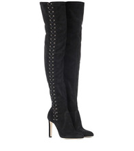 Jimmy Choo   Marie 100 suede over-the-knee boots   Clouty