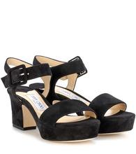 Jimmy Choo | Harriet 65 suede sandals | Clouty