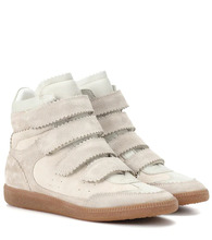 Isabel Marant | Bilsy suede high-top sneakers | Clouty