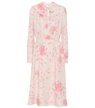 VALENTINO | Rose-printed silk dress | Clouty