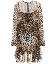 SAINT LAURENT   Leopard-print silk minidress   Clouty