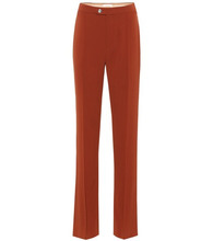 Chloé   Crepe straight leg pants   Clouty
