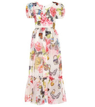 Dolce & Gabbana | Floral-printed silk midi dress | Clouty