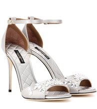 Dolce & Gabbana | Keira embellished satin sandals | Clouty