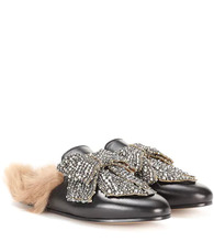 GUCCI | Princetown embellished leather slippers | Clouty