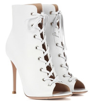 Gianvito Rossi | Marie peep-toe leather ankle boots | Clouty