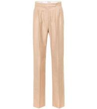 MAX MARA | Luigi camel and silk straight pants | Clouty