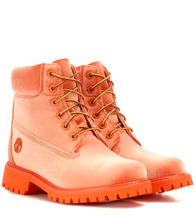 Off-White | X Timberland velvet ankle boots | Clouty
