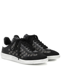 Isabel Marant   Bryce embellished leather sneakers   Clouty