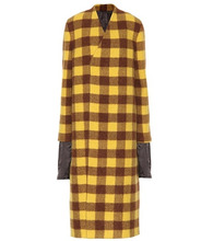 RICK OWENS | Plaid alpaca and wool coat | Clouty